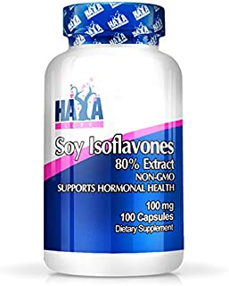 SOYA Isoflavones 80% Extract x 100 Capsules Non-GMO Supports Hormonal Health, Potent One-a-Day Formula