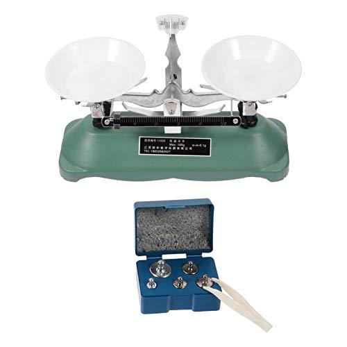 Scicalife Báscula de Equilibrio Mecánico de Laboratorio Báscula de Equilibrio Doble Bandeja de Equilibrio Tabla Báscula de Equilibrio Mecánico para Escuela de Laboratorio 1 Juego Gris Claro