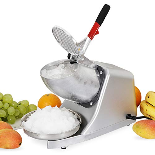F2C 300W Electric Ice Shaver Machine Shaved Ice Machine Ice Crusher Snow Cone Maker 143 LBS