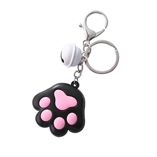 Preisvergleich Produktbild Oyfel Schlüsselanhänger aus Kunststoff,  Katzenpfotenform,  Geschenk für Auto,  Tasche,  Handy,  Geldbörse,  1 Stück