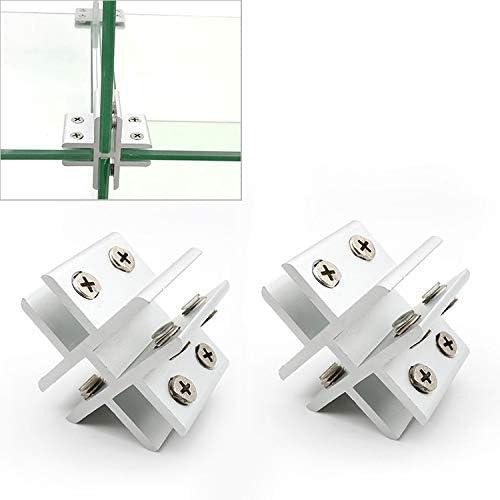Fixing Clip Ranking TOP12 2 PCS Cross-type Cl Combination Aluminum Glass Max 85% OFF Alloy