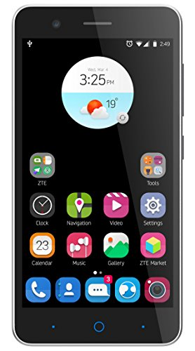 ZTE Blade A510 Smartphone (12,7 cm (5 Zoll) IPS-Display, 8 GB Speicher, 13 MP Kamera, Android 6.0) Schwarz