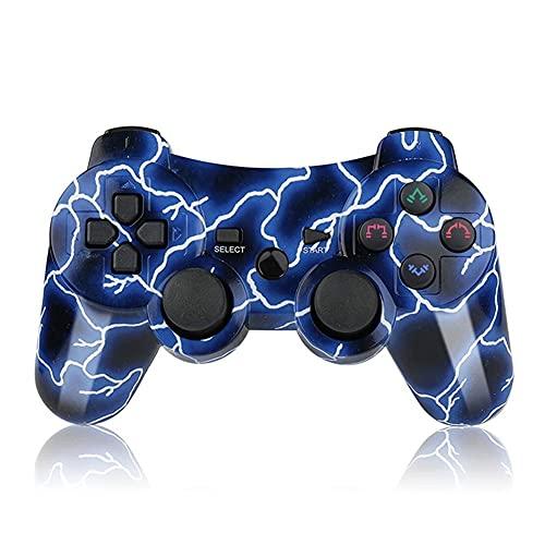 SFQRYP Gaming Gamepad Controlador Bluetooth Doble inalámbrico con Cable de Cargador Joystick Joypad (Color : Blue)