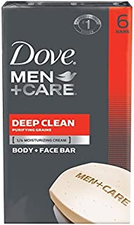 Dove Men+Care Body Soap and Face Bar More Moisturizing Than Bar Soap Deep Clean Effectively Washes Away Bacteria, Nourishe...
