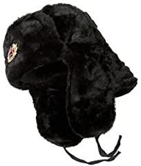 Imported from Russia Top quality Russian winter hat with earflaps - Ushanka Thick and soft artificial fur covers the outside. Cotton lining is padded with layers of cotton, viscose, wool and flax felts. Size XL: Russian size: 62, US size: 7 3/4 This ...