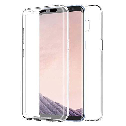 TBOC Funda para Samsung Galaxy S8 - Carcasa [Transparente] Completa [Silicona TPU] Doble Cara [360 Grados] Protección Integral Total Delantera Trasera Lateral Móvil Resistente Golpes