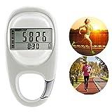 MUXAN 3D Contapassi Fitness Tracker Preciso Contapassi Activity Tracker Calorie bruciate Tasca...