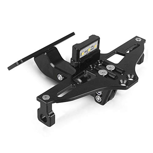 Universal License Plate Frame Motorcycle Adjustable Angle License Number Plate Frame Holder Bracket FOR YA-MA-HA XMAX300 XMAX 300 2018 2019 2020 Allyears (Color : Black -A)