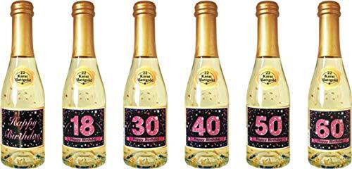 Pfeif auf's Alter Neutral im Geschenke Set für Frauen zum Geburtstag Geldgeschenk Umschlag mit Piccolo 22 Karat Blattgold gold pink lila schwarz (Pfeif aufs Alter pink 18 mit Piccolo 20214) - 7