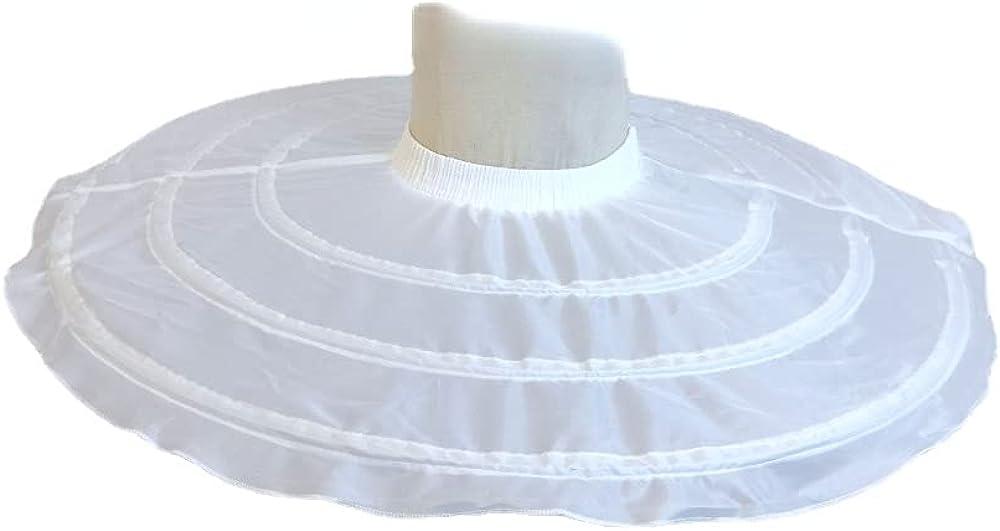 Linghe 3 Hoops Wedding Petticoats for Short Dress Ballet Skirt Girls Crinoline Elastic Waist Underskirt Jupon Court Tutu