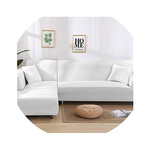 Nova's choice-sofa-slipcovers Funda de sofá elástica en Forma de L para Sala de Estar, Chaise Longue, Funda de sofá seccional, Funda de sofá esquinera, Forma de L, elástica, 2 Unidades