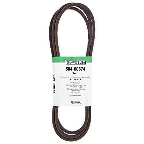 SureFit Deck Drive Belt Replacement for Toro 110-6871 42' TimeCutter Z4200 Z4220 Z4235 Z4202 RZT420H Lawn Mowers