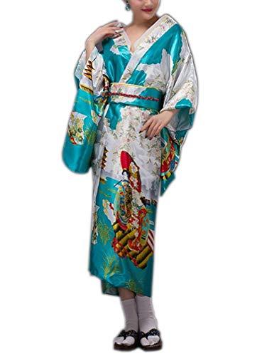 Targogo Dames Japanse Geisha Kimono Dressing Jurk Lange Jurk pyjama Yukata Vintage Pajama Badjas Chemise