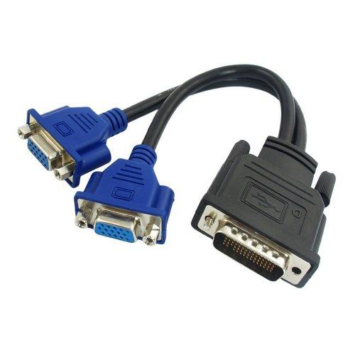 CableDeconn DMS 59 Pin Dual 2 Monitor VGA DMS 59 Pin Stecker auf 2 VGA Buchse Dual Monitor Adapter Adapter für LHF Grafikkarte