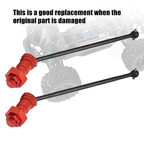Vordere Antriebswelle, 1 Paar vordere hintere Antriebswelle CVD Dogbone-Upgrade-Teil für 1/5 RC Car RC-Zubehör(Rot)