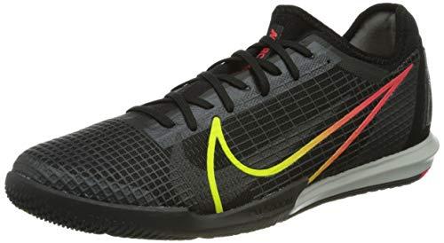 Nike Zoom Vapor 14 PRO IC, Scarpe da Calcio Unisex-Adulto, Black/Cyber-off Noir-Rage Green-Siren Red, 42 EU