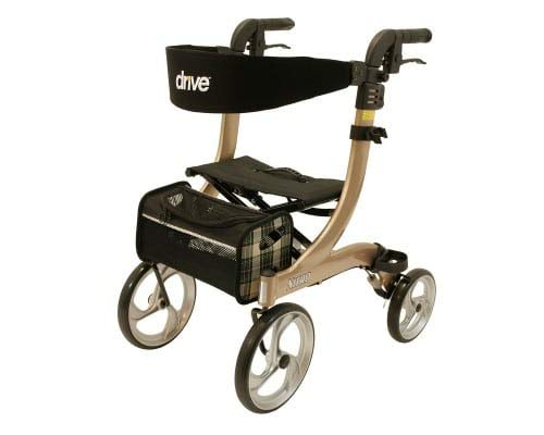 Drive Medical champagne rollator Nitro, maat S