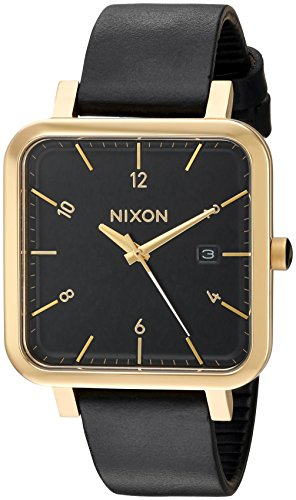Nixon Men's 'Ragnar 36' Quartz Stainless Steel and Leather Watch, Color:Black (Model: A985513)