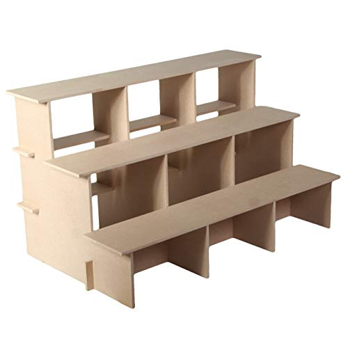 3 TIER DISPLAY STORAGE-POS TABLE DISPLAY UNIT STAND FOR RETAIL COUNTER SHOP (Large)