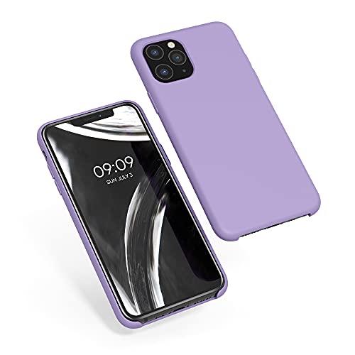 kwmobile Funda Compatible con Apple iPhone 11 Pro - Funda Carcasa de TPU para móvil - Cover Trasero en Lavanda
