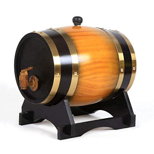 JHSHENGSHI Holzweinfass Holzweinfass 5L Holzweinfass Fässer, Restaurant Weinschränke mit eingebautem Aluminiumfolien-Liner für Ihren eigenen Whisky, Be