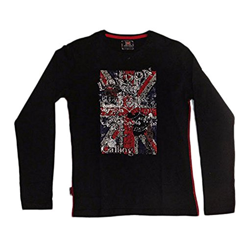 Harry Kayn SRK-T-shirt manches longues Garçon 3/8 ans EGALANT38- noir-3 ans