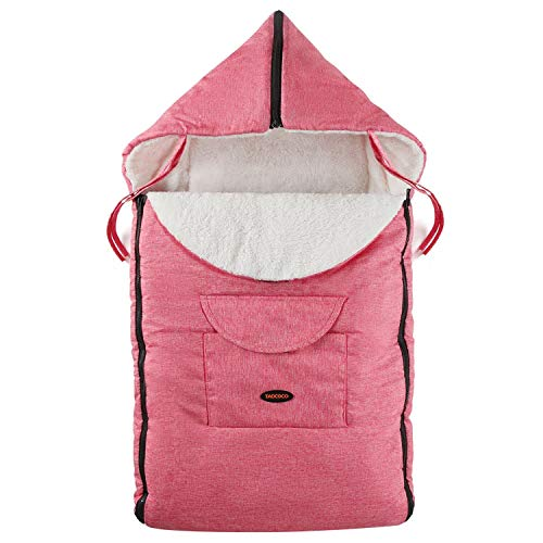 Fleece Lined Snuggly Waterproof Cosytoes Footmuff Universal Fitting for Pushchairs Strollers Prams Buggys Baby Joggers (Pink)
