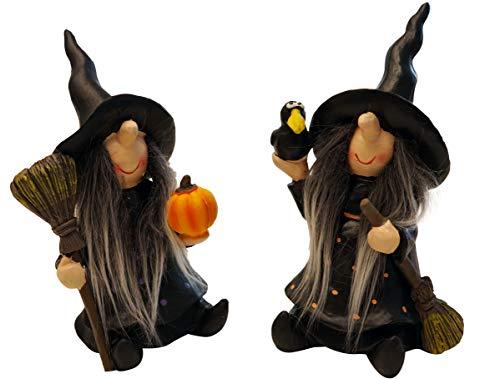 khevga Herbstdekoration Halloween Deko Hexe gruselig im 2er Set