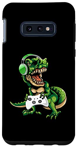 Galaxy S10e Boys Gamer Dinosaur Tyrannosaurus Rex Headphones Gaming Gift Case