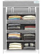 Flipzon Collapsible Wardrobe Organizer, Multipurpose Storage Rack, 4 Layer