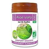 Aloe vera BIO | 60 gélules | Confort Digestif | 250 mg dosage 100% naturel sans additif et non comprimé | EKI LIBRE