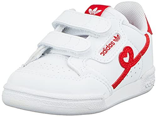 adidas Continental 80 CF I, Zapatillas Deportivas Unisex niños, FTWR White Vivid Red FTWR White, 19 EU