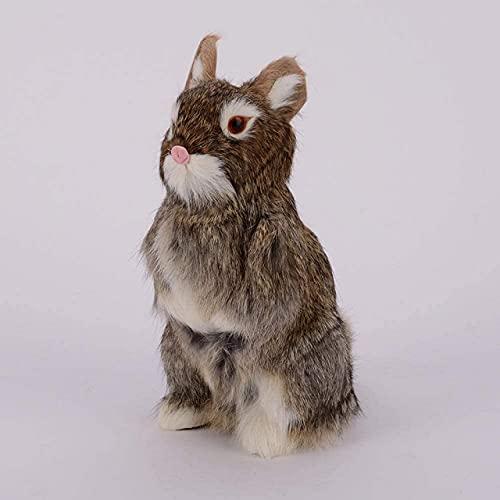 Estatua de animal, adornos de figuras, esculturas decorativas, conejo de simulación, conejo blanco, adornos de conejo Rex, jardín al aire libre, jardín, villa, decoración de jardín, manualidades, re