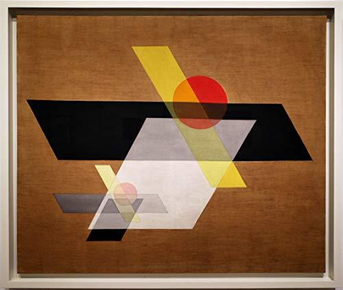 László Moholy Nagy Bauhaus Stil Geometrischer Druck Wandkunst Bauhaus Kunst Bauhaus Grafik Design Bauhaus Poster Bauhaus Druck braun (8 x 10)