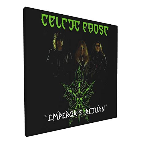 HasraMacias Wall Decor Painting Celtic Frost Paintings Artwork for Walls Band Poster Modern Home Decoration for Bar Living Room Bedroom 12×12in