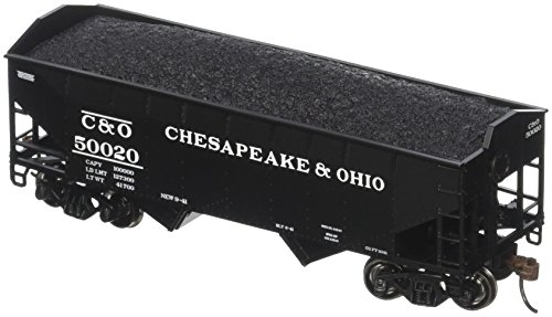 Roundhouse Athearn HO 34' 2-Bay Offset Hopper w/Coal Load, C&O #50020