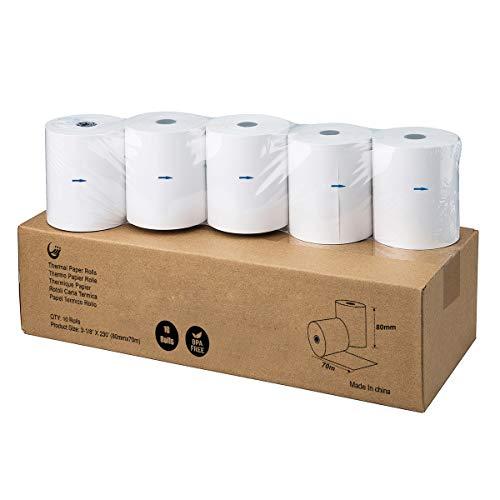 rouleaux thermiquepapier80mm*70m papier thermique 3 1 8  x 230  Rolls