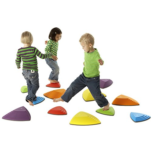 The River Stone balancing set is a great indoor toy for active kids to teach them balance