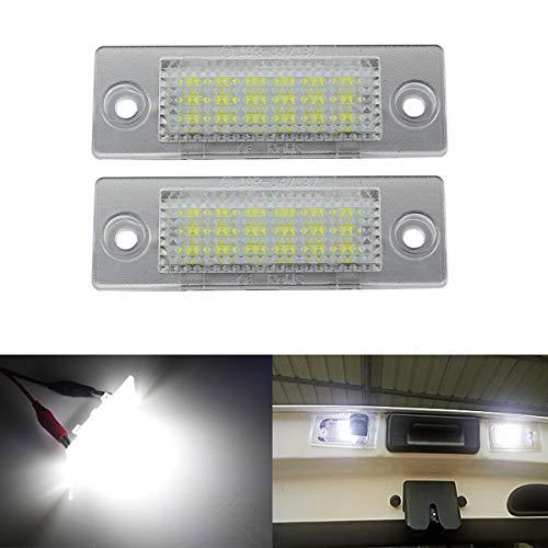 GOFORJUMP 2 Pcs 18 LED 3528 SMD Nombre Plaque D'immatriculation Lumière Lampe Style De Voiture pour V/W Touran Caddy 3 Golf 5 Plus Jetta 5 Passat B5.5 B6 Berline