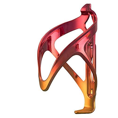 Mifty Bicicletas Jaula De Botella DeAgua Accesorios para Equipos De Ciclismo Portabidones para Bicicleta (Color : 1 Red Gold)