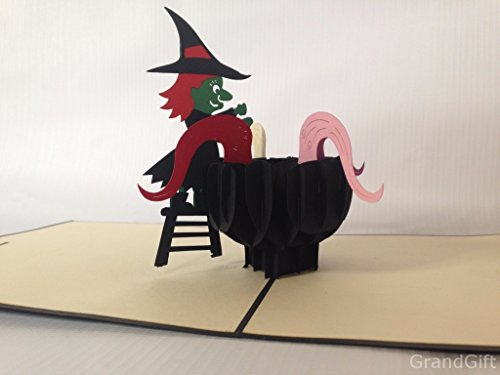 Witch brew 1st november 3D Pop up Cards Custom Greeting Cards 3D Easter Halloween Mother's Father's Day New Home New Year Thanksgiving Valentine Wedding Christmas