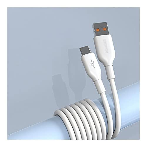 WFS Alta Velocidad USB Tipo C Cable USB A A Cable de Carga USB-C Cable USB C Cable 6A Carga RÁPIDA COMPACIDA S10 S9 S8 S8, y Otro Cargador USB C No se enredará (tamaño : 1.5M)