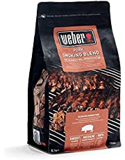 Weber 17664 Rökchips för fläsk, 700 g, rökning, arom, grillning röklåda universal, rök, för gas- och kolgrillar, rökarmona
