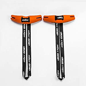 KOTPINIC Upgraded Heavy Duty Exercise Handles Training Grip Strength Sling Trainer for Cable Machines, Resistance Bands, Pull-up Bars, Barbells and Pulling Machines (Orange: Training Grip)
