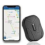 Tracker GPS, Monitoraggio Tempo Reale, Localizzatore GPS Tracciatore di Posizione Satellitare con Geo-Allarme Antifurto per Auto, Camion, Moto, Barca, Veicoli, Impermeabile, APP Gratuita(10000 mAh)