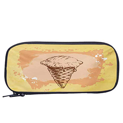 Portable Pencil Case for Children School Supplies Modern Single Ice Cream