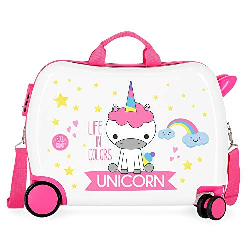 Little Me Unicorn Ride-On Suitcase 2 Multi-Direction Spinner Wheels