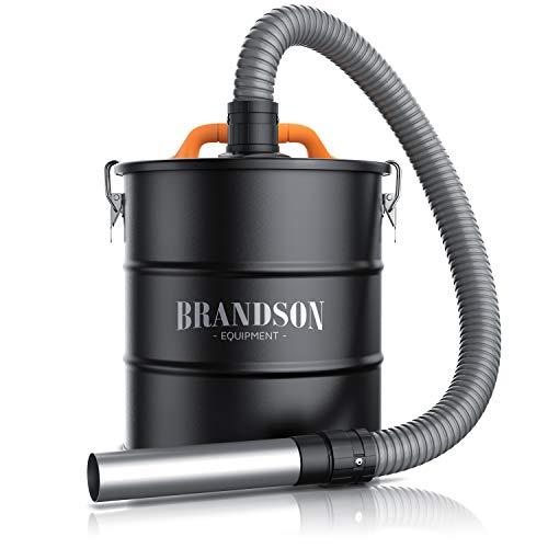 Brandson - Asche Filter Vorabscheider - 20L Auffangbehälter – Saugeranschluss - 1 m Saugschlauch – Aschefilter – Ofensauger - Kaminsauger – Schnellverschlüsse – mit Nass- oder Trockensauger verwendbar