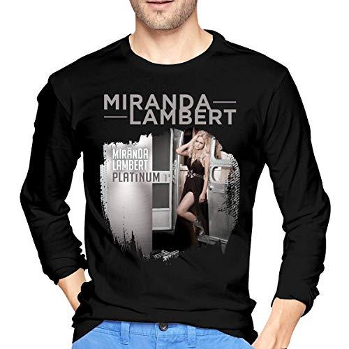 Longsleeves, Langarmshirts, Herren, T-Shirts Hemden, Tops, Men's Miranda Lambert Platinum Cotton Long Sleeve T Shirt Black