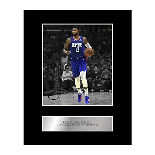 Foto enmarcada firmada de Paul George Los Angeles Clippers #01 NBA Impreso autógrafo de regalo